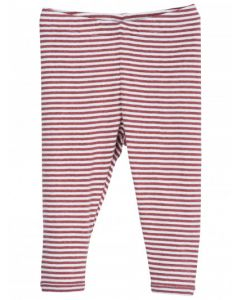Serendipity Baby Leggings Stripe Cayenne/Offwhite