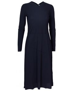 Filippa K Flared Seam Navy Kjole